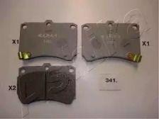 Переднї гальмівні колодки на MAZDA DEMIO ASHIKA 50-03-341.