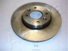 Вентилируемый передний тормозной диск на Ниссан Ноут 'ASHIKA 60-00-013'.