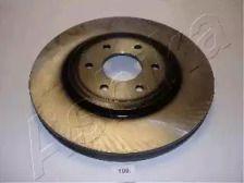 Вентилируемый передний тормозной диск на Ниссан Навара 'ASHIKA 60-01-109'.