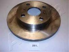 Вентилируемый передний тормозной диск на Тайота Старлет 'ASHIKA 60-02-261'.