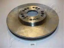 Вентилируемый передний тормозной диск на LEXUS SC 'ASHIKA 60-02-286'.