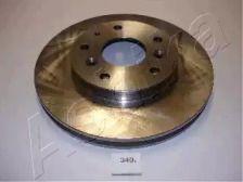 Вентилируемый передний тормозной диск 'ASHIKA 60-03-340'.