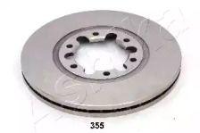 Вентилируемый передний тормозной диск на MAZDA B-SERIE 'ASHIKA 60-03-355'.