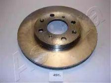 Вентилируемый передний тормозной диск ASHIKA 60-04-491 рисунок 0