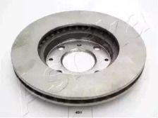 Вентилируемый передний тормозной диск ASHIKA 60-04-491 рисунок 1