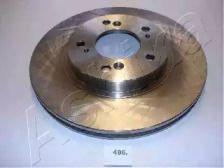 Вентилируемый передний тормозной диск на Хонда Прелюд 'ASHIKA 60-04-496'.