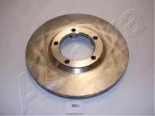 Вентилируемый передний тормозной диск на HYUNDAI H100 'ASHIKA 60-05-591'.