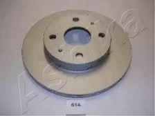 Вентилируемый передний тормозной диск на DAIHATSU CUORE 'ASHIKA 60-06-614'.
