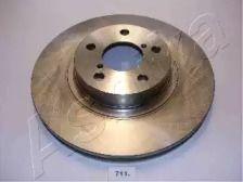 Вентилируемый передний тормозной диск на Тайота Гт86 'ASHIKA 60-07-711'.