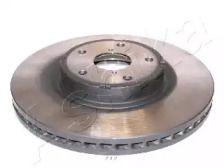 Вентилируемый передний тормозной диск на SUBARU TRIBECA 'ASHIKA 60-07-712'.