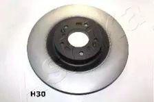 Вентилируемый передний тормозной диск на Хендай Генезис 'ASHIKA 60-0H-H30'.