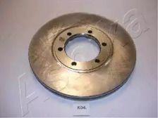 Вентилируемый передний тормозной диск на Киа К2500 'ASHIKA 60-0K-004'.