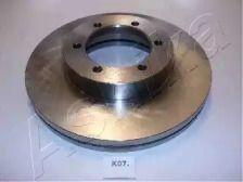 Вентилируемый передний тормозной диск на KIA PREGIO 'ASHIKA 60-0K-007'.