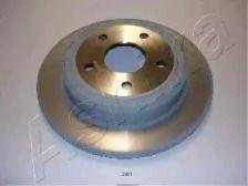 Задний тормозной диск на JEEP COMMANDER ASHIKA 61-00-001.
