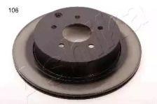 Вентилируемый задний тормозной диск на INFINITI M37 'ASHIKA 61-01-106'.