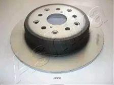 Задний тормозной диск на LEXUS SC 'ASHIKA 61-02-229'.