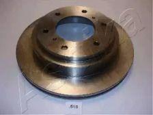 Вентилируемый задний тормозной диск на MITSUBISHI PAJERO 'ASHIKA 61-05-515'.