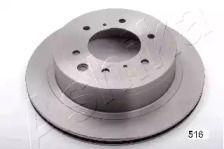 Вентилируемый задний тормозной диск 'ASHIKA 61-05-516'.