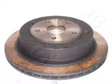 Вентилируемый задний тормозной диск на SUBARU TRIBECA 'ASHIKA 61-07-704'.
