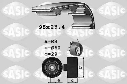 Комплект ременя ГРМ SASIC 1754009.