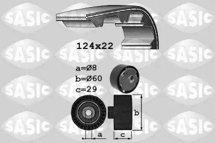 Комплект ременя ГРМ SASIC 1756029 малюнок 0