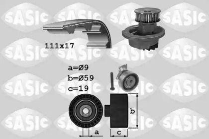 Комплект ГРМ з помпою SASIC 3906071 малюнок 0