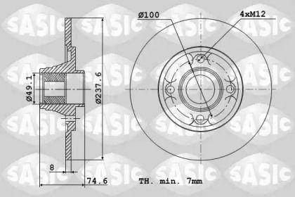 Задний тормозной диск 'SASIC 6104042'.