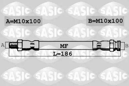 Шланг тормозной задний на FIAT MAREA 'SASIC SBH6311'.