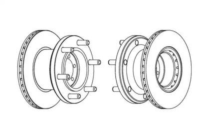 Вентилируемый передний тормозной диск 'BERAL BCR133A'.