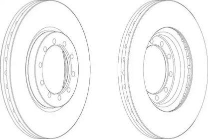Вентилируемый передний тормозной диск 'BERAL BCR182A'.