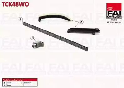 Комплект ланцюга ГРМ FAI TCK48WO.