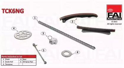 Комплект ланцюга ГРМ FAI TCK6NG.