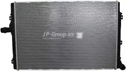 Алюминиевый радиатор охлаждения двигателя на Сеат Альтеа 'JP GROUP 1114206200'.