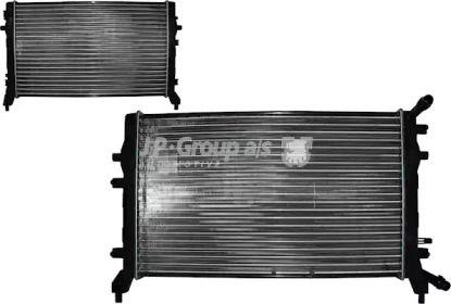 Радиатор охлаждения двигателя на SKODA OCTAVIA A5  JP GROUP 1114208000.