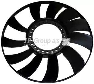 Крыльчатка вентилятора охлаждения двигателя 'JP GROUP 1114900100'.