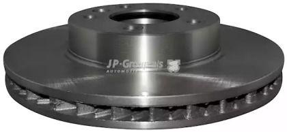 Вентилируемый передний тормозной диск на Порше Кайен 'JP GROUP 1163105070'.
