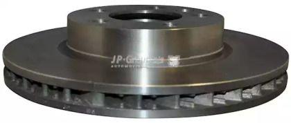 Вентилируемый передний тормозной диск на PORSCHE CAYENNE 'JP GROUP 1163105080'.
