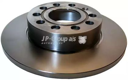 Задний тормозной диск на VOLKSWAGEN TOURAN 'JP GROUP 1163200800'.