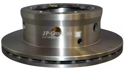 Вентилируемый задний тормозной диск на MERCEDES-BENZ VARIO 'JP GROUP 1163204700'.