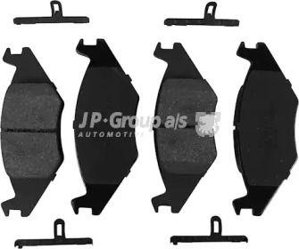 Передняя тормозные колодки на Фольксваген Джетта 'JP GROUP 1163600110'.