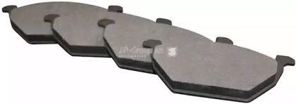 Передние тормозные колодки на SEAT LEON 'JP GROUP 1163600910'.