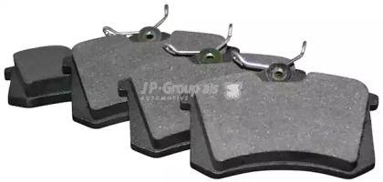 Задние тормозные колодки на SEAT TOLEDO JP GROUP 1163705310.
