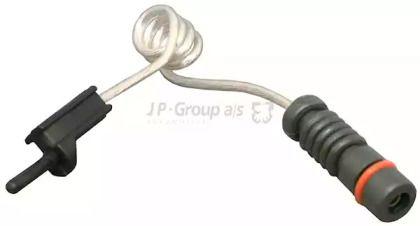 Датчик зносу гальмівних колодок 'JP GROUP 1197300100'.