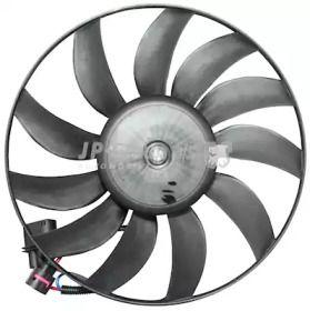 Вентилятор охлаждения радиатора на SKODA OCTAVIA A5 'JP GROUP 1199101600'.