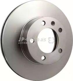Вентилируемый передний тормозной диск на NISSAN INTERSTAR 'JP GROUP 1263103200'.