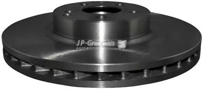 Вентилируемый передний тормозной диск на MERCEDES-BENZ GLK 'JP GROUP 1363104900'.