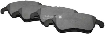Переднї гальмівні колодки на MERCEDES-BENZ CLS 'JP GROUP 1363601410'.