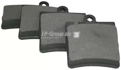 Заднї гальмівні колодки на Мерседес W210 JP GROUP 1363700610.