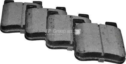 Заднї гальмівні колодки на Мерседес W210 JP GROUP 1363702410.