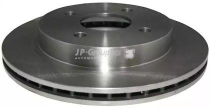 Вентилируемый задний тормозной диск на FORD SCORPIO 'JP GROUP 1563200800'.